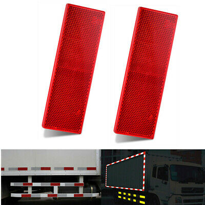 2x 150mm Red E-Approved Rectangular Rear Reflectors for Trailer Caravan Gatepost