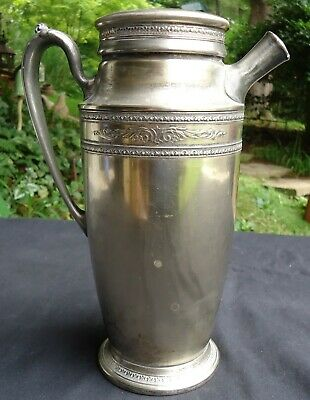Vintage Homan Co. Silverplate 1926 District Governor Pitcher Monogram Lid