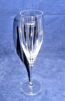 Christofle Crystal, IRIANA, Vertical Cuts, Champagne Flute, 8 5/8""