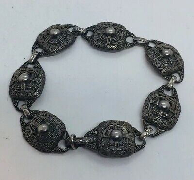 Theodore Fahrner Antique Art Deco Sterling Silver Ornate Bracelet