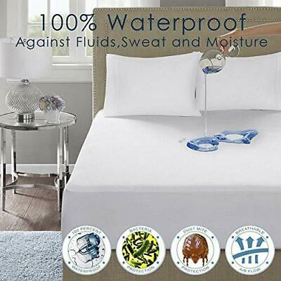 Waterproof Terry Towel Mattress Protector Topper Fitted Sheet Bed Cover All Size