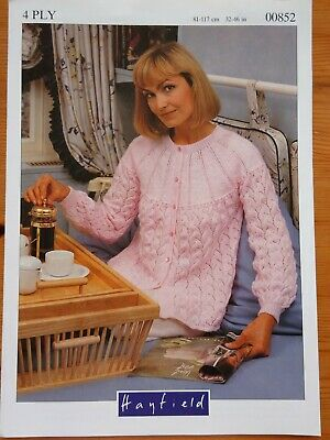 Patons  DK Knitting Pattern Ladies  Bed Jacket Size 32//46/""