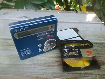SONY MZ-R70 + MD Minidisc - portable WALKMAN Recorder Player (blau) Rarität !