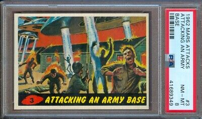 1962 Mars Attacks #3 Attacking An Army Base Psa 8