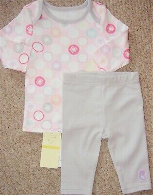 Baby Girls Two Piece Outfit Of Grey Leggings And Top Age 1 Month Bnwt From M&S