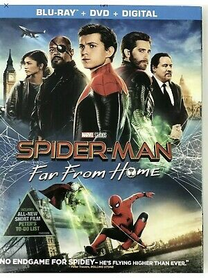 New - Spider-Man:far From Home(Blu-Ray+Dvd+Digital)W/Slipcover