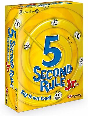 FUN 5 Second Rule Junior, Card Game, New Kids Games, Ages 6 And Up, Family Gift