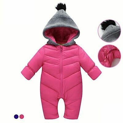 Baby Romper Toddlers Snowsuit Warm Overalls For Girls Boys Cotton-padded Thicken