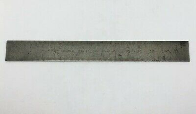 Vintage Brown&Sharpe Tempered 15mm Scale/Rule Tempered Made in USA/ Metric