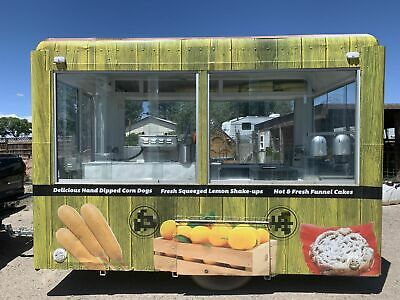 7.5' x 14' Food Concession Trailer/Mobile Food Unit in Excellent Working Order f