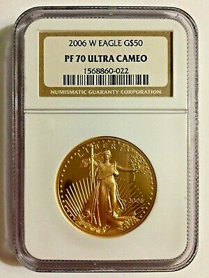2006-W $50 Gold Eagle NGC PF70 UCAM ULTRA CAMEO  American 1 oz Gold Proof Coin
