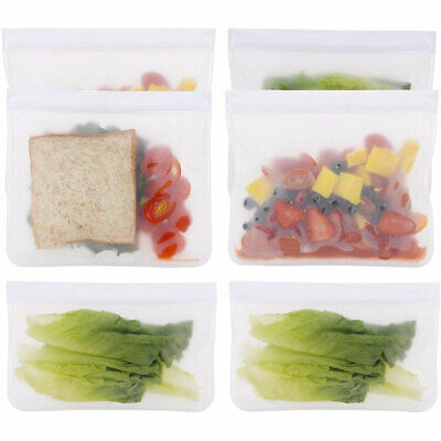 NEW  Kitchen Fresh Zip Lock Bag Reusable Silicone Food Freezer Storage Ziplock