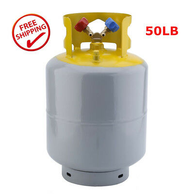 50lb Refrigerant Recovery Cylinder Tank, Reusable Recovery Device - 400 PSI RE