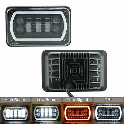 Pair 4x6 inch Led Headlights Compatible with H4651 H4652 H4656 H4668 H6545 Plug