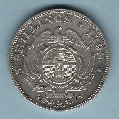 South Africa. 1892 Crown.. Single Shaft on wagon..  gVF - Trace Lustre