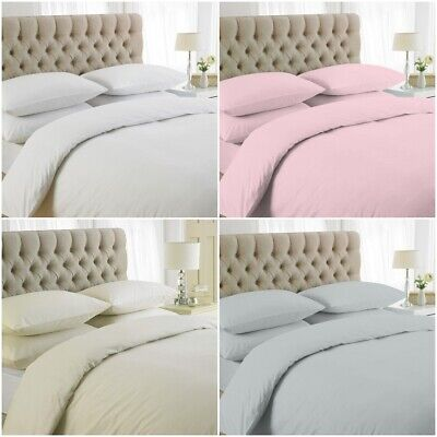 Duvet Cover Set 200 Thread Count 100% Egyptian Cotton Bedding Sets All Sizes