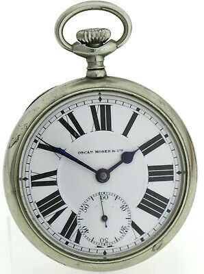 Oscar Moser & Cie Herren Taschenuhr Pocket Watch Ø 54mm