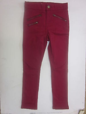 Girls skinny jeans trousers M & S  6 7 8 9 10 11 12years  red *RRP £14 - £18