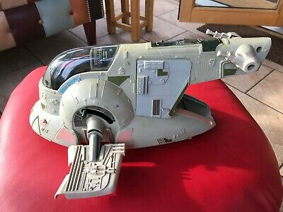 nice vintage star wars slave 1 vehicle empire strikes back boba fett's ship 1981