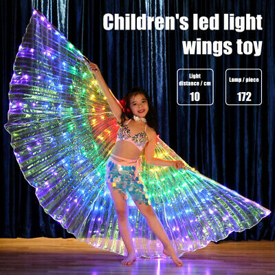Children Dancers LED Performance Cloak Luminous Butterfly Wing Dancing Props