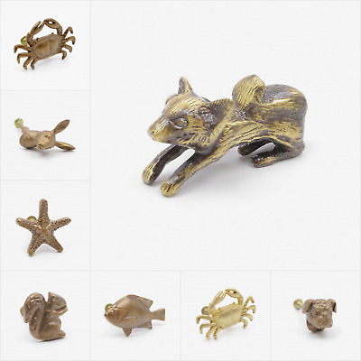 Brass Finish Animal Shaped Knob, Pull, Handle, for Cupboards, Doors, Cabinets, D