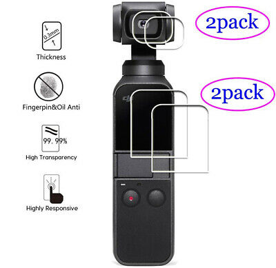 Tempered Glass Screen Protector for DJI Osmo Pocket (2-Pcs)+ Lens Protector (2pc