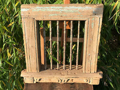 Vintage Indian Steel Barred Window Jali Original Paint Salvaged From Rajasthan a