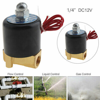 1/4'' DC 12V Normally Closed Type Electric Solenoid Valve for Water / Oil / Gas
