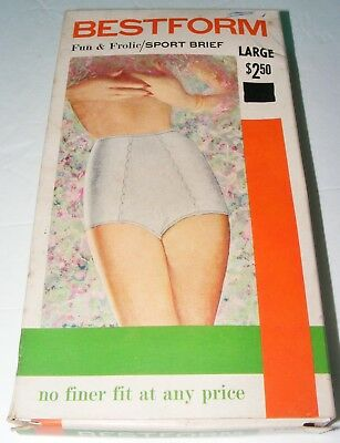 VTG Bestform Ladies Sport Brief Granny Panties/Babydoll NOS? Size Large 1960/70s