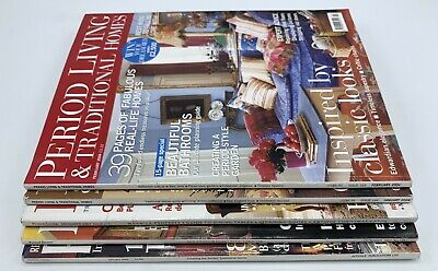 Period Living & Traditional Homes  Magazines x 5 Issues 2002 - 2004