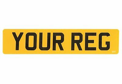 REAR Yellow Show Custom Number Plates PLATE NOT Road/MOT Legal Compliant Car