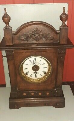 Antique Fattorini & Sons, Automatic Alarm Mantel Clock,