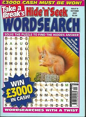 2 Take A Break Word Search Magazines Lots Of Puzzles In Each Solutions In Back