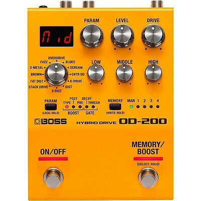 Boss OD-200 Hybrid Drive 200 Series Effects Pedal