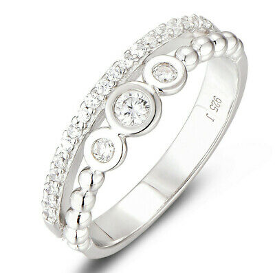 QUEEN 925 STERLING SILVER CZ ENGAGMENT RING WEDDING BAND WOMEN/'S SIZE 3-12 SA041