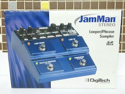 Digitech JamMan Stereo Looper Pedal and Phrase .Never used!. OPEN BOX!