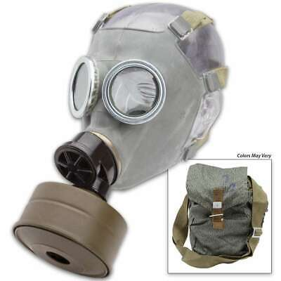Polish Military NOS Surplus Gas Mask MC-1 W/ Filter & Canvass Bag