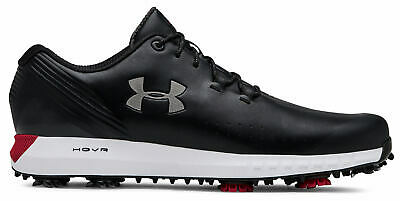 Under Armour UA Hovr Drive Golf Shoes 3022273-001 Black/Silver/Red Men's New