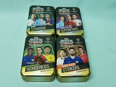 Topps Match Attax Champions League 2019/2020 alle 4 Tin Boxen leer 19/20