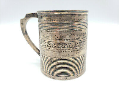 """1801? ANTIQUE Charles Chesterman II """"CC"""" City of London GEORGIAN SILVER Cup"""