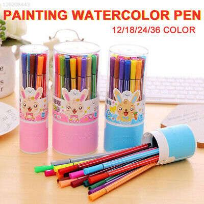 DC14 Plastic Watercolor Pen Colour Pencil Crayons Drawing Multifunctional