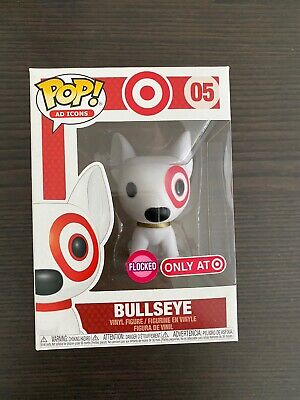Funko Pop Ad Icons Target Exclusive Flocked Bullseye #05 In Hand DAMAGED POPS