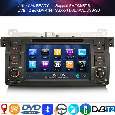 Car Stereo Sat nav Headunit for BMW 3 Series E46 318 320 325 M3 Rover 75 MG ZT