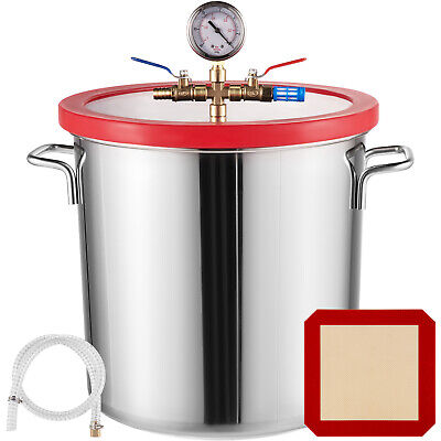 22.7 L Stainless Steel Vacuum Chamber kit 5 Gallon Degassing Urethanes