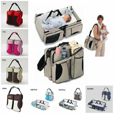 3in1 Diaper Tote Bag Travel Bassinet Nappy Changing Station Carrycot Baby Bed