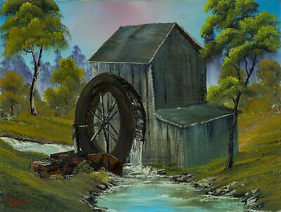 Bob Ross The Old Mill Original Contemporary Art Painting