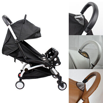 AU Baby Pram Stroller Pushchair Armrest Arm Handle PU Leather Protect Case Cover