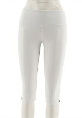 Women with Control Petite Slim Tummy Control Pedal Pushers White PXS NEW A277524