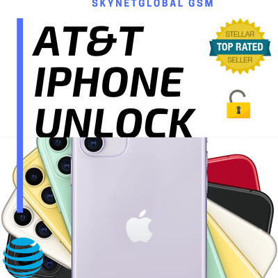 iPHONE NETWORK UNLOCK SERVICE AT&T for iPhone 5 6s 6s PLUS 7 7+ 8 X XS XS MAX 11