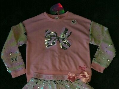 JOJO SIWA  Unicorn Bow Sequin sparkly outfit Skirt & top/jumper Age 11-12 Yr